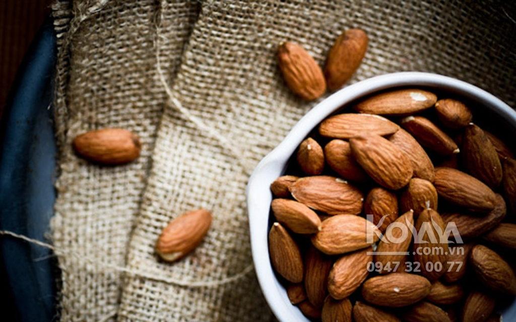 dinh dưỡng của hạt hạnh nhân, hạt hạnh nhân nhập khẩu mỹ